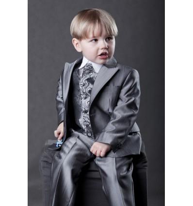 Stalowy garnitur dziecięcy